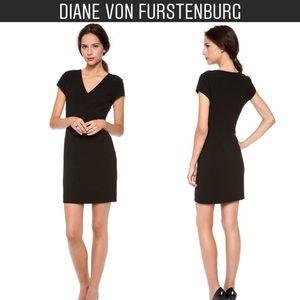 Diane von Furstenburg Black Norma Dress Ponte 8